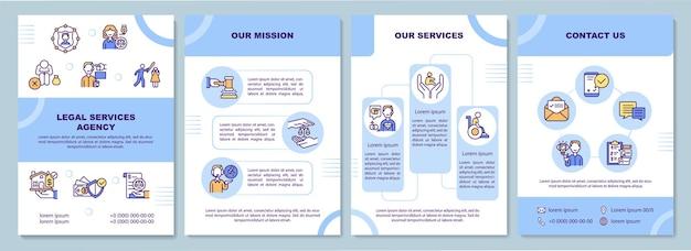 Modelo de folheto de agência de serviços jurídicos