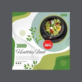 Modelo de folheto de alimentos saudáveis e bio
