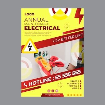 Modelo de folheto de anúncio de eletricista