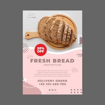Modelo de folheto de anúncio de padaria