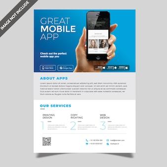 Modelo de folheto de aplicativo móvel