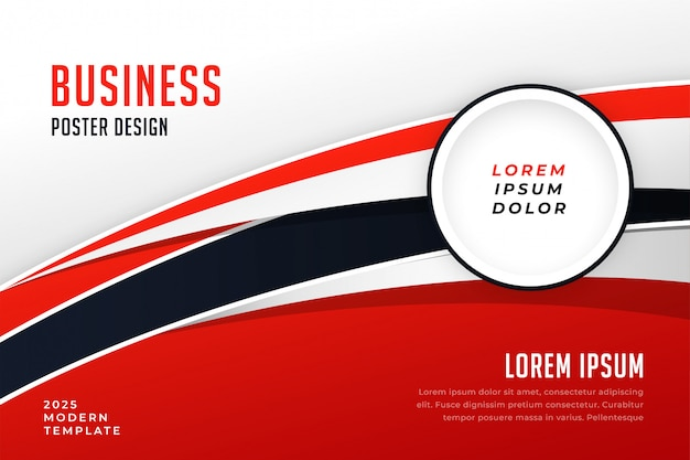 Modelo de folheto de apresentação de negócios elegante vermelho