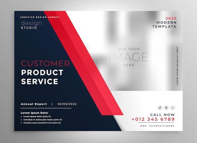 Modelo de folheto de apresentação de negócios vermelho moderno