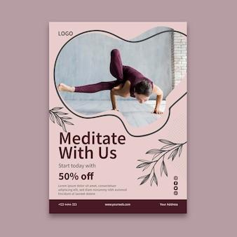 Modelo de folheto de aula de ioga
