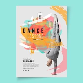 Modelo de folheto de aulas de dança
