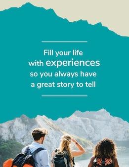 Modelo de folheto de aventura ao ar livre para agência de viagens