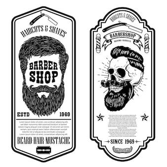 Modelo de folheto de barbearia