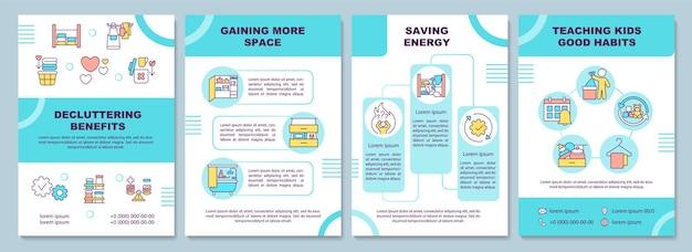 Modelo de folheto de benefícios de organização
