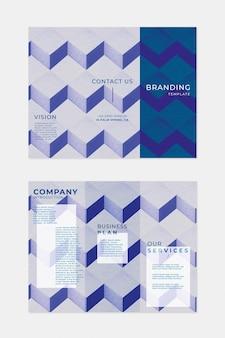 Modelo de folheto de branding