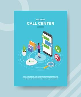 Modelo de folheto de call center comercial