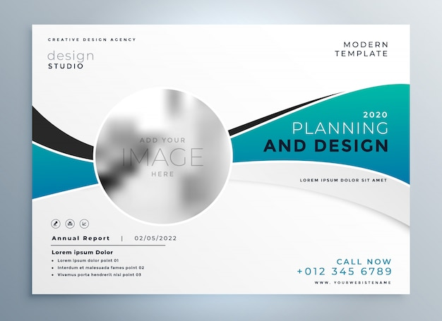 Modelo de folheto de capa de apresentação empresarial moderno