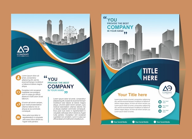 Modelo de folheto de capa de brochura criativa