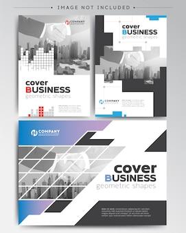 Modelo de folheto de capa de negócios modernos
