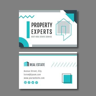 Modelo de folheto de cartão de visita horizontal imobiliário