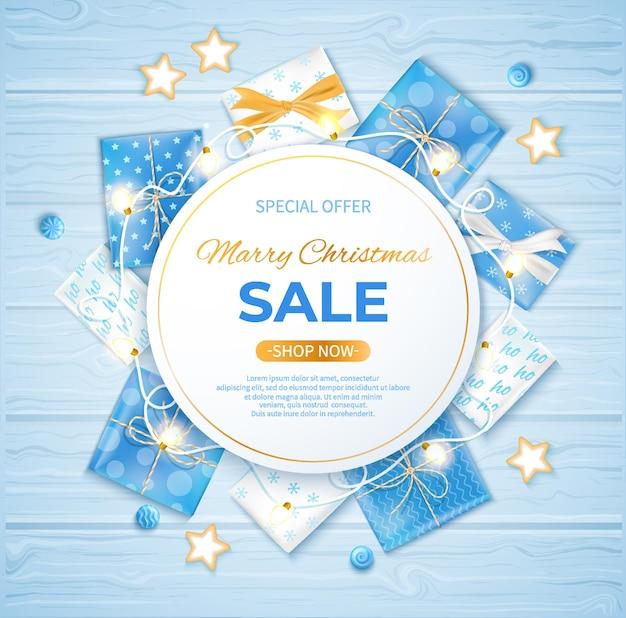 Modelo de folheto de cartaz de banner de venda de inverno oferta especial sazonal