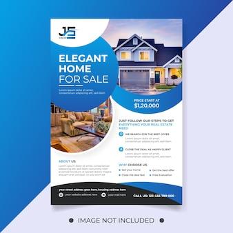 Modelo de folheto de casa elegante para venda de imóveis