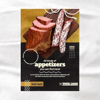 Modelo de folheto de churrasco
