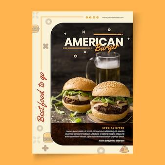 Modelo de folheto de comida americana