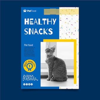 Modelo de folheto de comida animal