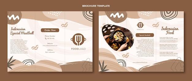 Modelo de folheto de comida plana