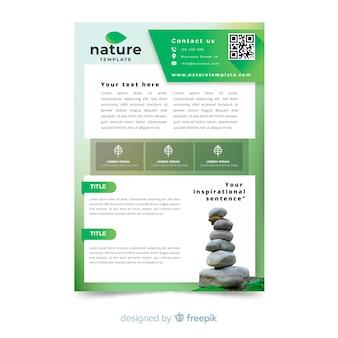 Modelo de folheto de conceito de natureza