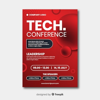 Modelo de folheto de conferência de negócios plana