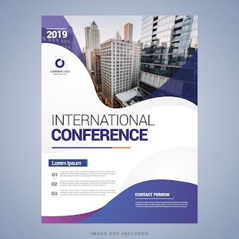 Modelo de folheto de conferência