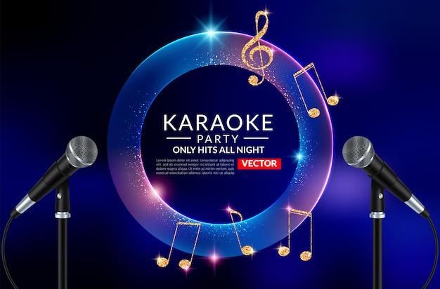 Modelo de folheto de convite de festa de karaoke