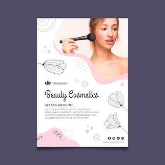Modelo de folheto de cosméticos faciais de beleza