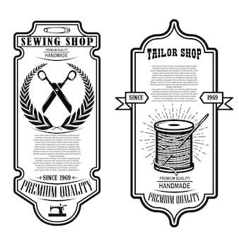 Modelo de folheto de costura