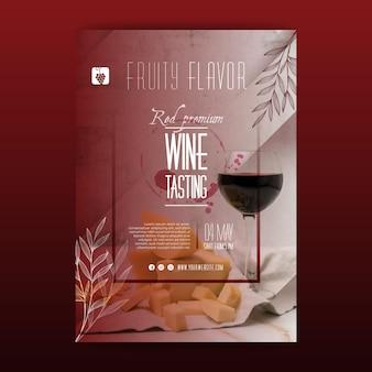 Modelo de folheto de degustação de vinhos