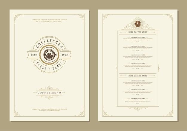 Modelo de folheto de design de menu de café
