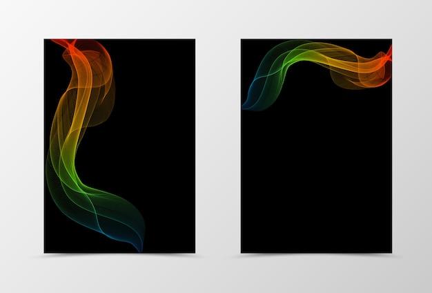 Modelo de folheto de design de onda