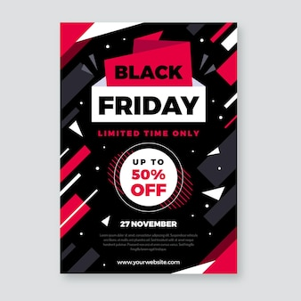 Modelo de folheto de design plano black friday