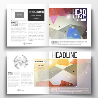 Modelo de folheto de design quadrado