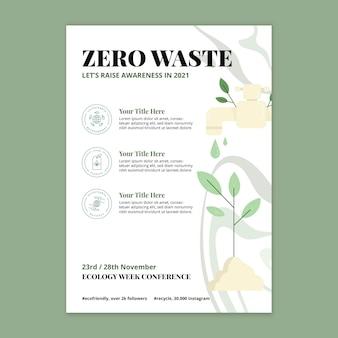 Modelo de folheto de desperdício zero
