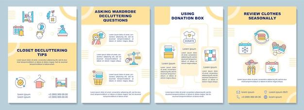 Modelo de folheto de dicas de organização do armário