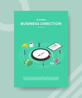 Modelo de folheto de direção de negócios