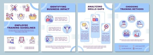 Modelo de folheto de diretrizes de treinamento de funcionários