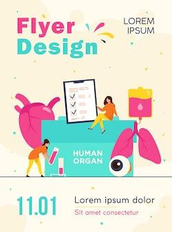 Modelo de folheto de doação de órgãos