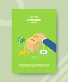 Modelo de folheto de doação empresarial