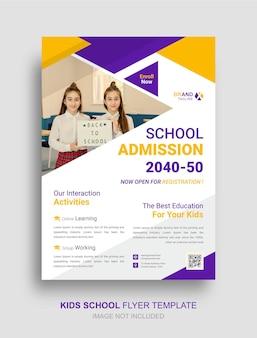 Modelo de folheto de educação para admissão escolar