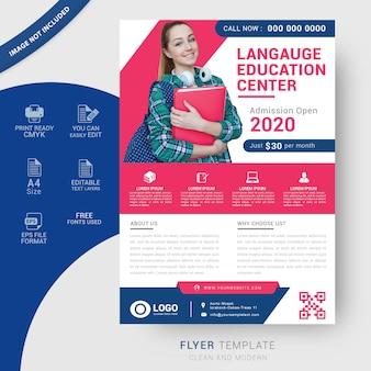 Modelo de folheto de educação
