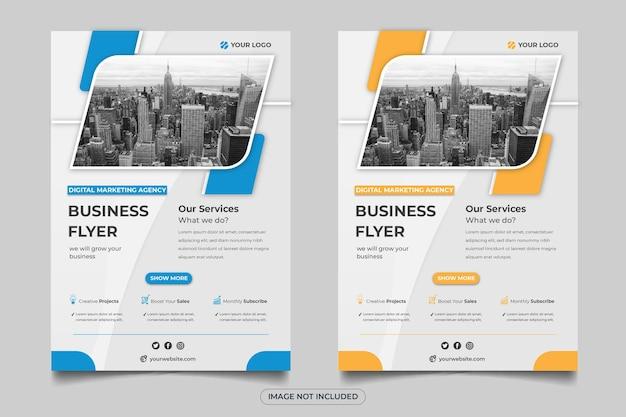 Modelo de folheto de empresa de negócios