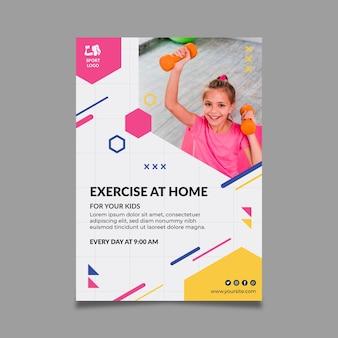 Modelo de folheto de esporte em casa