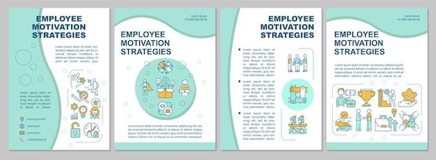 Modelo de folheto de estratégia de motivação de funcionários