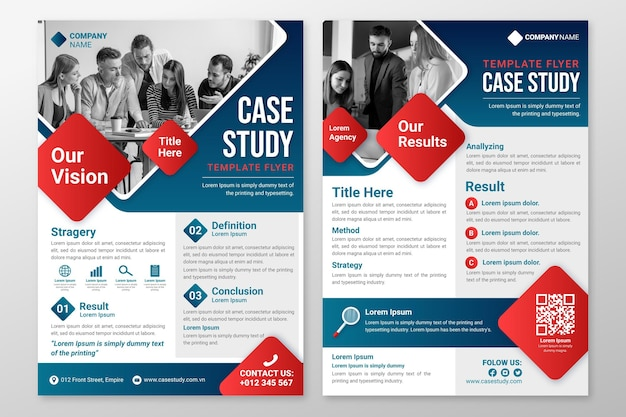 Modelo de folheto de estudo de caso