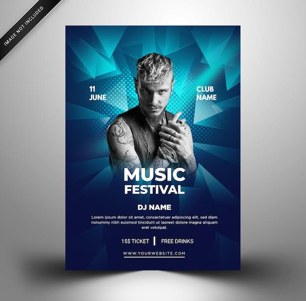 Modelo de folheto de festival de música.