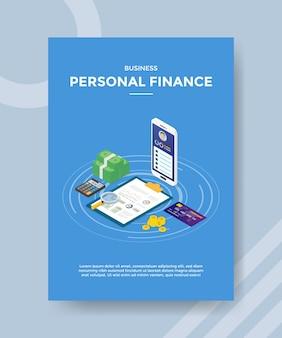 Modelo de folheto de finanças pessoais de negócios