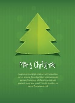 Modelo de folheto de folheto de cartão postal feliz natal